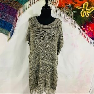 New Directions Sweater Poncho Style Sweater - XL